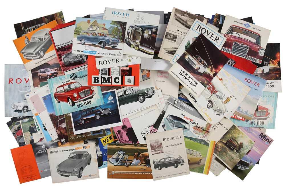 Lot 39 - Quantity of British Sales Brochures