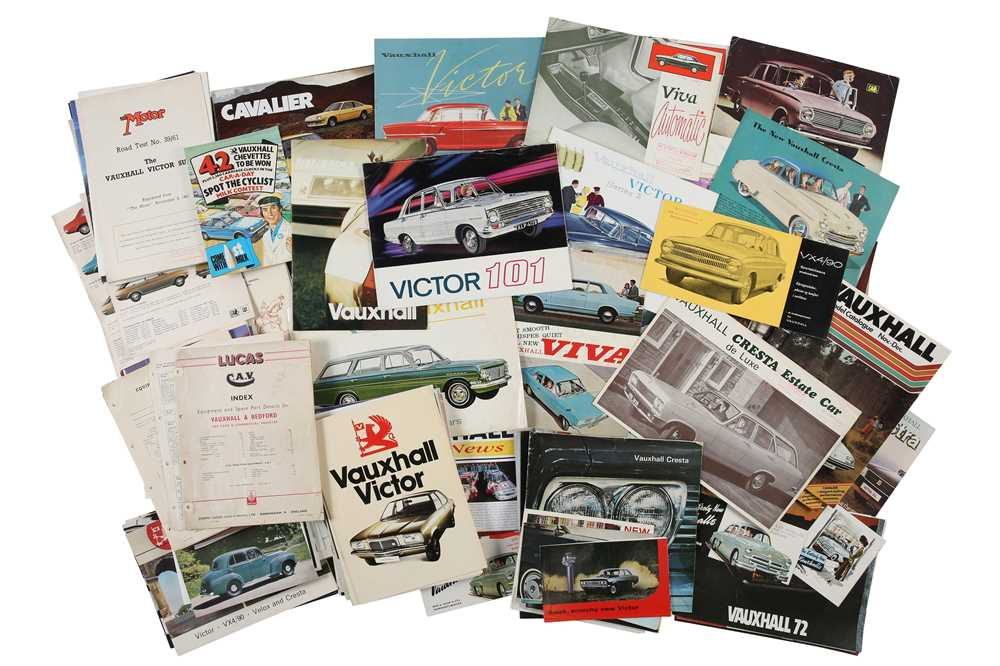 Lot 41 - Two Boxes of Vauxhall Sales Brochures