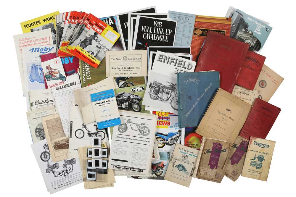 Lot 46 - Quantity of Vincent Motorcycles Literature