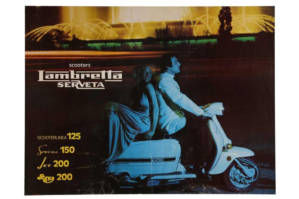Lot 48 - Original Lambretta Scooters Advertising Poster