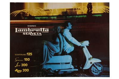 Lot 48 - Original Lambretta Scooters Advertising Poster