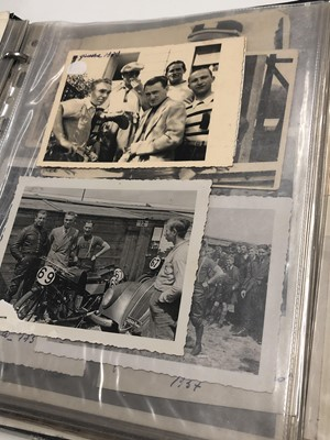 Lot 49 - Two albums of Automotive, Motorcycle and Competitive Cycling Photographs