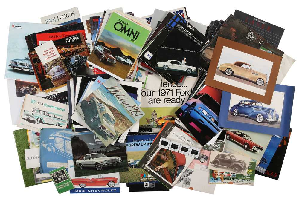 Lot 50 - Quantity of American Vehicle Sales Brochures