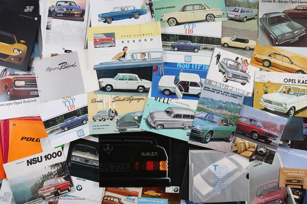 Lot 52 - Two Boxes of German Sales Brochures