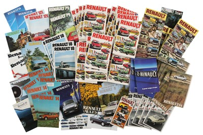 Lot 54 - Three Boxes of French Sales Brochures
