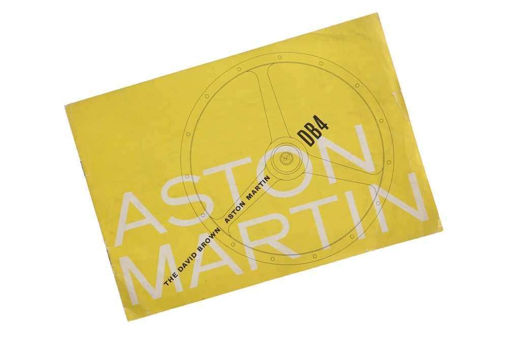 Lot 62 - Aston Martin DB4 Saloon Sales Brochure