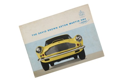 Lot 63 - Aston Martin DB4 Saloon Sales Brochure