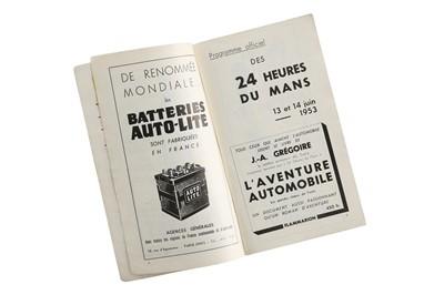 Lot 64 - Le Mans 1953 Souvenir Programme