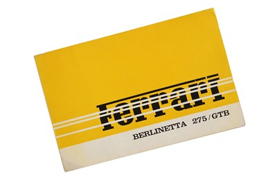 Lot 71 - Ferrari 275 GTB Sales Brochure