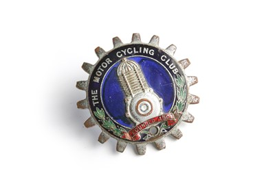 Lot 140 - The Motorcycling Club Enamel Members Badge by Spencer of London