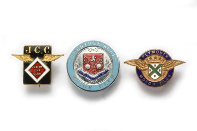 Lot 145 - Three Pre-War Motor Club Lapel Badges