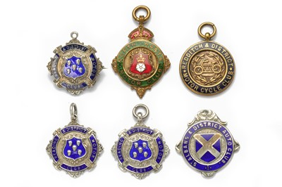 Lot 146 - Six Pre-War Enamelled Award Medallions