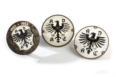 Lot 155 - Three ADAC Allgemeiner Deutscher Automobil-Club Member's Badges
