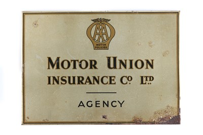 Lot 165 - A Rare AA Motor Union Agency Sign