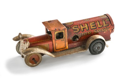 Lot 167 - A Rare Shell Motor Spirit Clockwork Tinplate Tanker