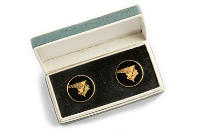 Lot 169 - A Boxed Pair of National Benzole Mixture Promotional Cufflinks