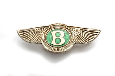 Lot 171 - An Early Sterling Silver Bentley 'Winged B' Lapel Badge