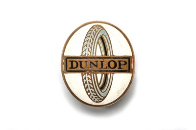 Lot 176 - A Rare Pre-War Dunlop Tyres Lapel Badge