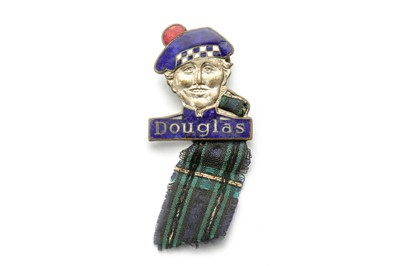 Lot 177 - An Early Douglas Motorcycles Advertising Lapel Badge