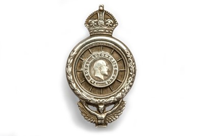 Lot 178 - A Large and Early Silver-Plated RAC Royal Automobile Club Lapel Badge