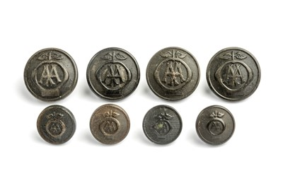 Lot 180 - A Set of Early AA Automobile Association Patrolman's Buttons