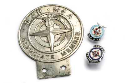 Lot 181 - Three BRM / ORMA Badges