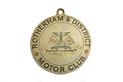 Lot 182 - An Early Rotherham & District Motor Club Badge