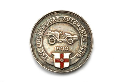 Lot 187 - A Rare Lincolnshire Automobile Club Solid Silver/Enamel Award Medallion, Dated 1905