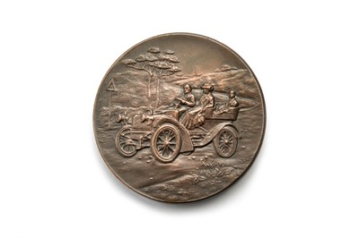 Lot 188 - A Rare Cardiff Motor Club Bronze Award Medallion, Dated 1907