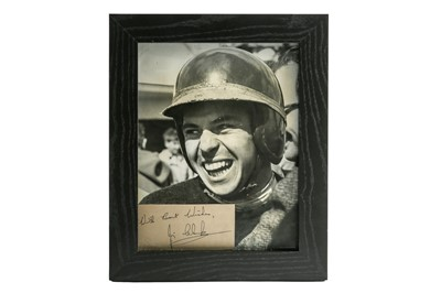 Lot 101 - A Rare Jim Clark Period Publicity Photograph and Autograph