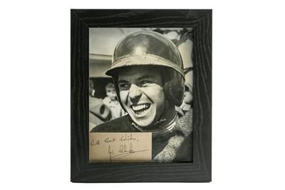 Lot 101-A Rare Jim Clark Period Publicity Photograph and Autograph