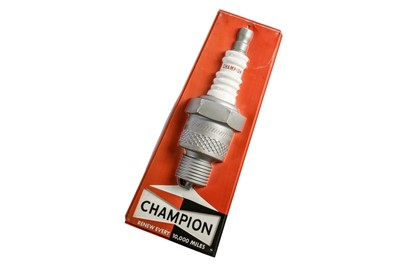 Lot 103 - A Champion Spark Plugs Garage Sign, c1970s
