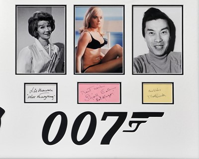 Lot 77 - James Bond - 'Goldfinger' - Main-Cast Signed Autograph Presentation
