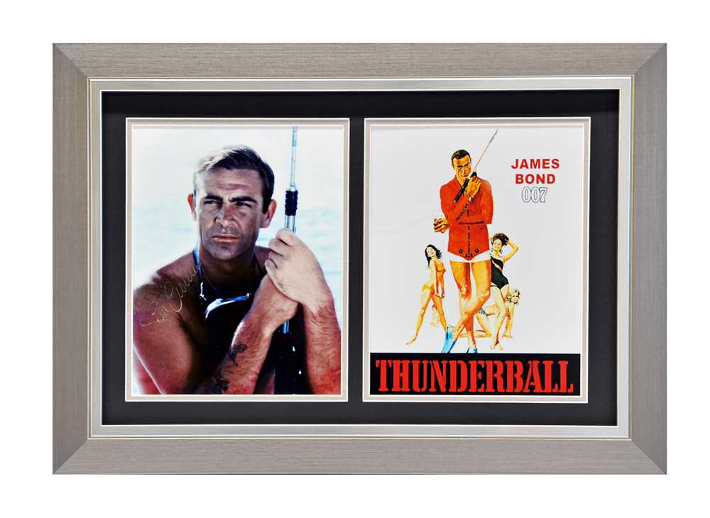 Lot 80 - Sean Connery as James Bond in 'Thunderball' Signed Photograph / Autograph Presentation