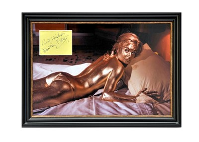 Lot 81 - Shirley Eaton as Jill Masterson - James Bond - 'Goldfinger' Autograph Presentation