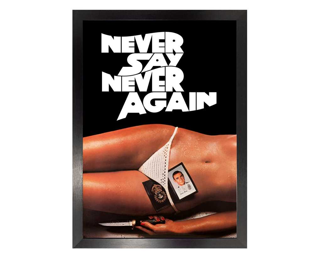 Lot 84 - Sean Connery as James Bond - Never Say Never Again Movie Poster