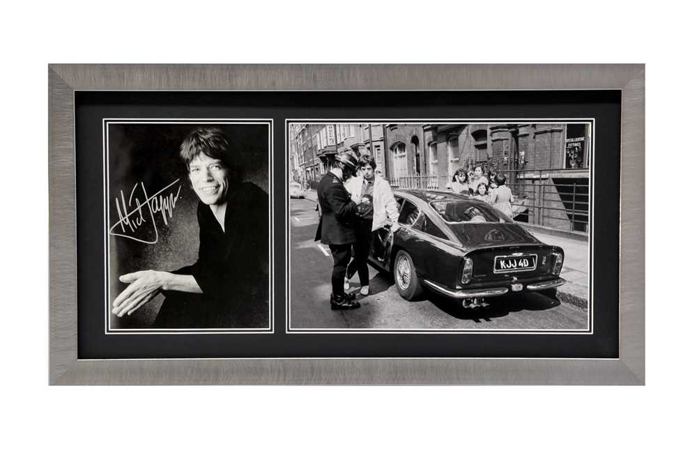 Lot 87 - Mick Jagger, the Aston Martin DB6 and the Police Officer Autograph Presentation