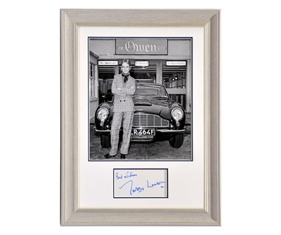 Lot 93 - Twiggy Lawson and the Aston Martin DB6 Autograph Presentation