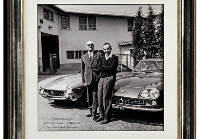 Lot 95 - John Surtees and his Mentor Enzo Ferrari Autograph Presentation