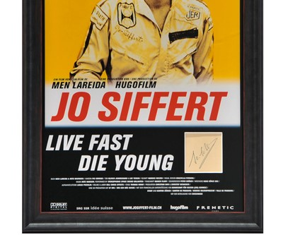 Lot 96 - A Tribute to Jo Siffert - Autograph / Film Poster Presentation