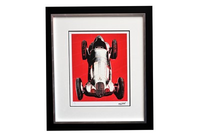 Lot 89 - Mercedes Benz W125 Artwork by Andy Warhol