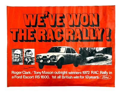 Lot 139 - A Large Ford Escort RAC Rally Victory Poster (Signed)