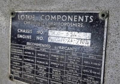 Lot 218 - Lotus Eleven Parts