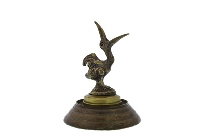Lot 71 - Brass Pelican Motor Mascot by Antoine Bofill, c1920s