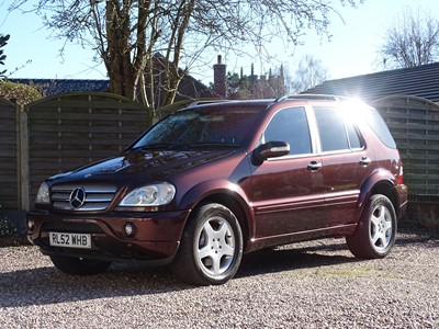 Lot 237 - 2002 Mercedes-Benz ML 55 AMG