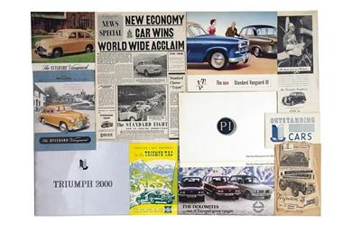 Lot 3 - Quantity of Triumph and Standard Sales Brochures