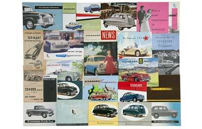 Lot 3 - Quantity of Triumph and Standard Sales Brochures