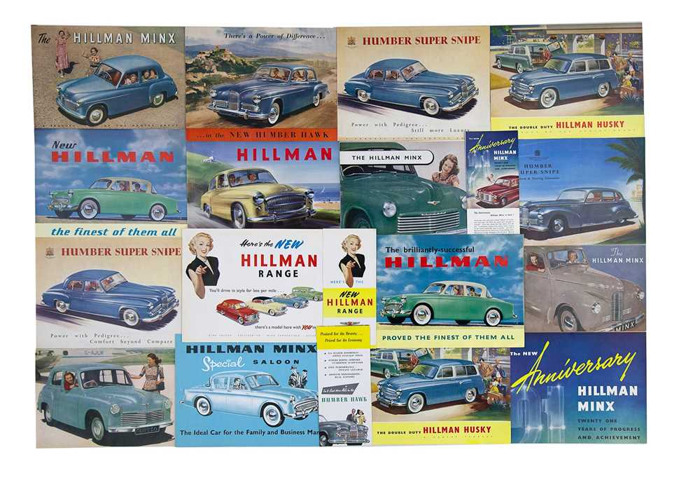 Lot 5 - Quantity of Rootes Group Sales Brochures
