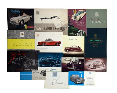 Lot 6 - Quantity of Daimler and Lanchester Sales Brochures