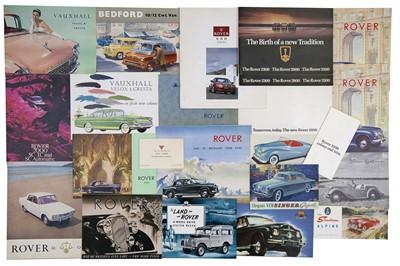 Lot 8 - Quantity of British Manufacturer Sales Brochures